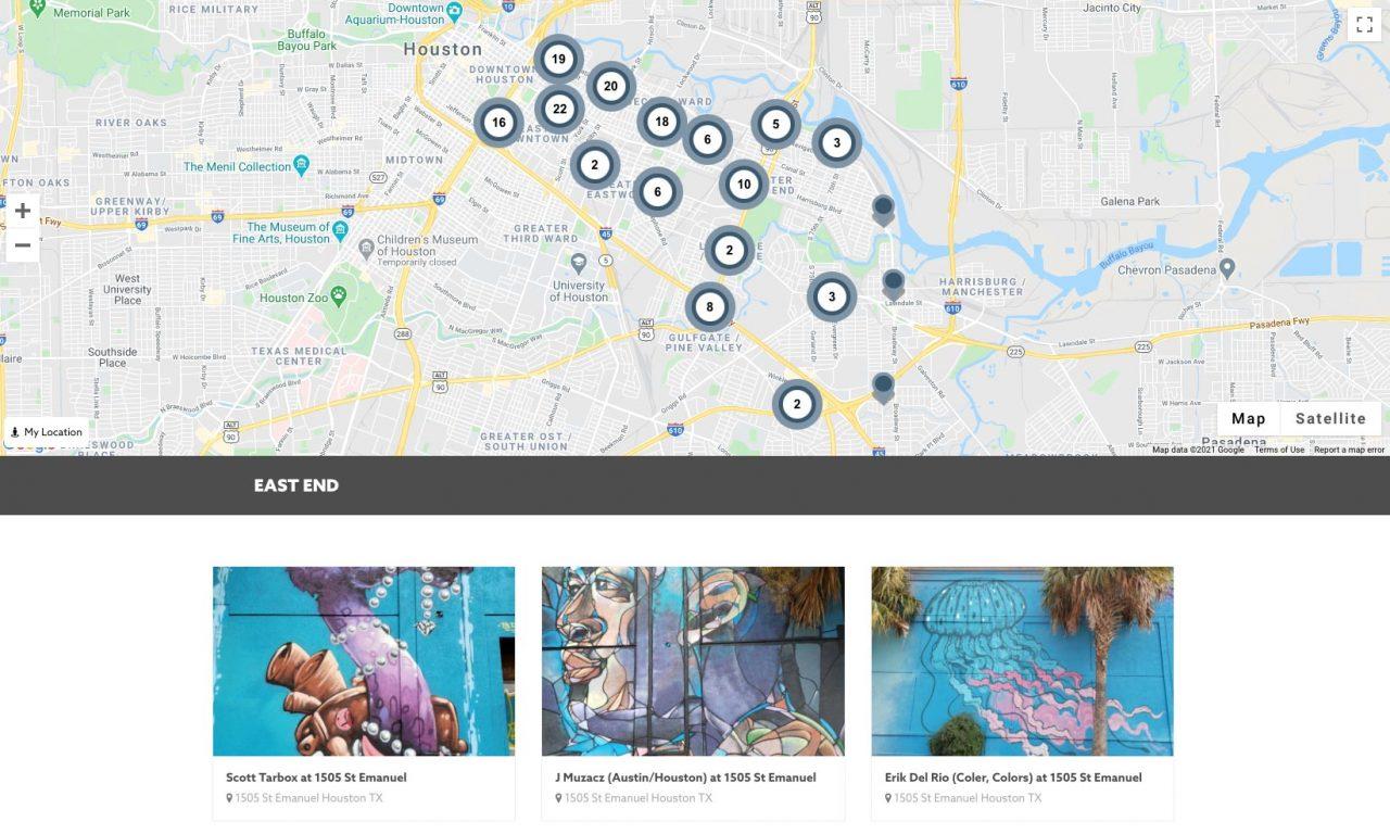 Houston Mural Map