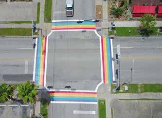 Alex Hill Memorial Pride Crosswalk
